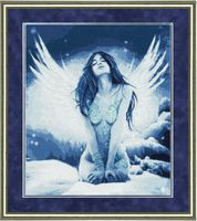 """Вышивка крестом """"Снежный ангел"""""""