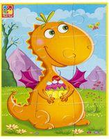"""Пазл мягкий """"Диномир. Динозавр с пироженкой"""" (12 элементов)"""