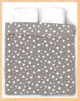 "Пододеяльник хлопковый ""Stars Grey"" (205х220 см)"