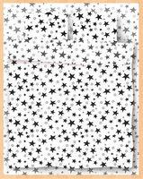 """Постельное белье """"Stars White"""" (полуторное)"""