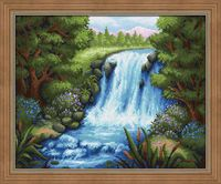 "Алмазная вышивка-мозаика ""Тихий водопад"" (500х400 мм)"