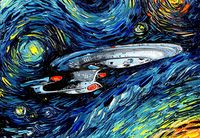 "Магнит на холодильник ""Star Trek. Ван Гог"""