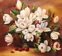 "Алмазная вышивка-мозаика ""Букет белых цветов"" (500х410 мм)"