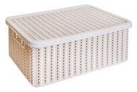 """Ящик для хранения с крышкой """"Вязание"""" (12,5x19,5x35 см; белый)"""
