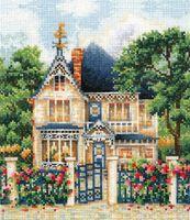 """Вышивка крестом """"Загородный дом"""" (160х175 мм)"""