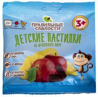 """Пастилки детские """"Правильные сладости. Яблоко-банан"""" (70 г)"""