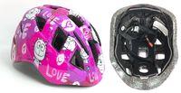 Шлем велосипедный детский (XS; розово-белый; арт. IN11-2XS)