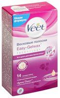 """Восковые полоски Veet """"Для чувствительных участков тела. С ароматом бархатной розы и эфирными маслами"""" (14 шт; 4 салфетки)"""