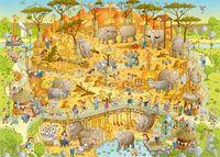 """Пазл """"Африканский зоопарк"""" (1000 элементов)"""
