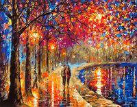 "Картина по номерам ""Прогулка под фонарями"" (400х500 мм)"