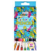 """Цветные карандаши """"Достопримечательности городов"""" (12 цветов; арт. DV-4800-12)"""