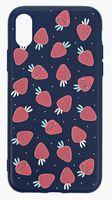"""Чехол для iPhone X/XS """"More berries"""" (тёмно-синий)"""