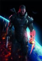 """Магнит на холодильник """"Mass Effect. Shepard"""""""