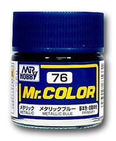 Краска Mr. Color (metallic blue, C76)