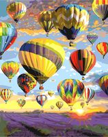 "Картина по номерам ""Парад воздушных шаров"" (400х500 мм)"