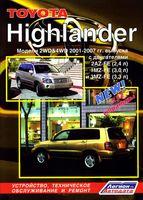 Toyota Highlander 2001-2007 гг. Устройство, техническое обслуживание и ремонт
