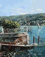 """Картина по номерам """"Изола-Белла на озере Лаго-Маджоре"""" (400х500 мм)"""