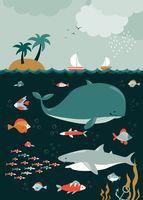 """Открытка """"Подводный мир"""""""