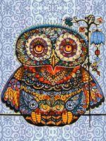 "Картина по номерам ""Волшебная сова"" (400х300 мм)"