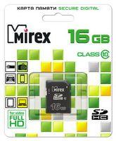 Карта памяти SDHC 16Gb Mirex Class 10