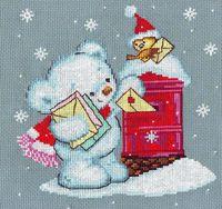"""Вышивка крестом """"Письма Деду Морозу"""""""