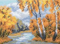 """Вышивка крестом """"Рыжая осень"""" (110x75 мм)"""