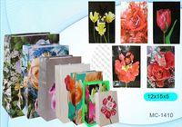 """Пакет бумажный подарочный """"Цветы"""" (в ассортименте; 12x15x5 см; арт. МС-1410)"""
