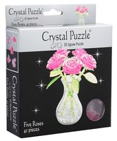 "Пазл ""3D. Розовый букет в вазе"" (41 элемент)"