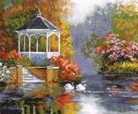 """Вышивка крестом """"Лебединый рай"""""""