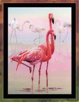 """Вышивка крестом """"Фламинго"""" (300х400 мм)"""