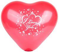 """Набор шариков резиновых надувных """"I Love You"""" (10 шт.)"""