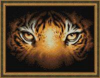 """Алмазная вышивка-мозаика """"Тигриный взгляд"""" (400х300 мм)"""