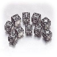 """Набор кубиков """"Германия"""" (D6, 2 цвета, 10 шт)"""