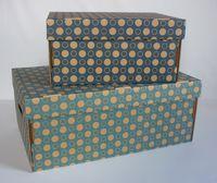Набор коробок (2 шт.; темно-синяя и голубая)