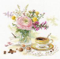 "Вышивка крестом ""Утренний кофе"" (230x220 мм)"