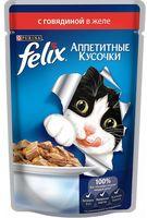 """Пресервы для кошек """"Аппетитные кусочки"""" (85 г; говядина в желе)"""
