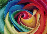 """Вышивка крестом """"Цветные лепестки"""" (305x400 мм)"""