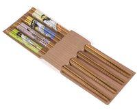 Набор палочек для еды бамбуковых (4 пары; 225 мм)