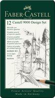 """Карандаши """"Faber Castel"""" в металлической коробке (4B-6H)"""