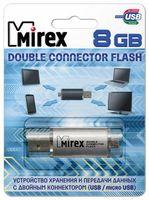 USB MicroUSB Flash Drive 8Gb Mirex Smart (Silver)