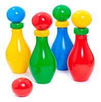 """Набор для боулинга """"Кегли с шариком и кольцом"""" (4 шт)"""