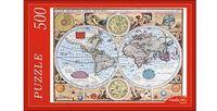 """Пазл """"Старинная карта мира"""" (500 элементов)"""