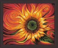 "Картина по номерам ""Огненный подсолнух"" (400х500 мм)"