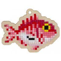 "Алмазная вышивка-мозаика ""Брелок. Рыба фугу"" (73х55 мм)"