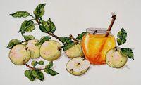 """Вышивка крестом """"Медовые яблоки"""" (420х280 мм)"""