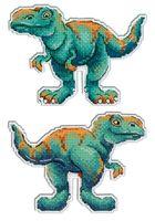 """Вышивка крестом """"Динозавры. Тираннозавр"""" (100х13 мм)"""