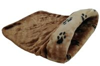 Лежанка-мешочек (45х65х25 см; коричневая)