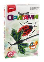"""Оригами модульное """"Божья коровка и стрекоза"""""""