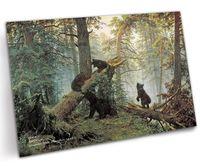 """Открытка """"Шишкин. Утро в сосновом лесу"""" (арт. 0004)"""
