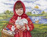 """Вышивка крестом """"Пасхальный кролик"""" (220х290 мм)"""